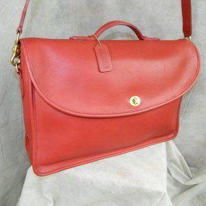 Coach Vintage 'Lexington' Briefcase RED! 5265 EXC!